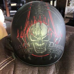 Large Harley Davidson Motorcycles Half helmet.